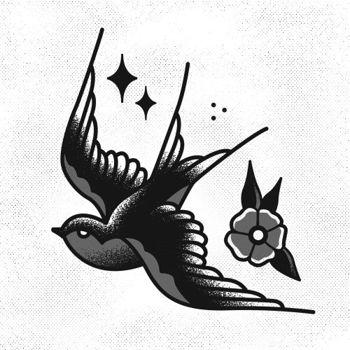 Swallow Tattoo Line Drawing : Ideas about sparrow tattoo design on pinterest