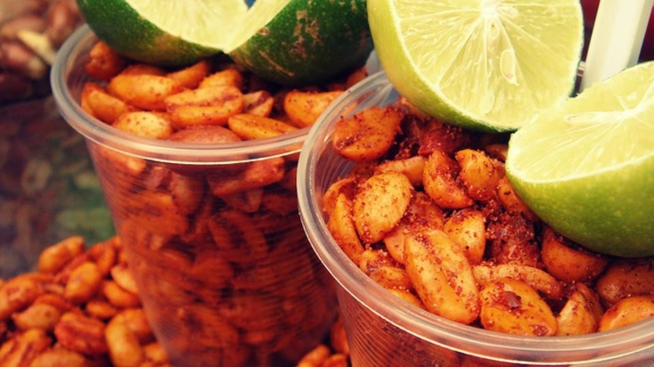 """""""Cacahuates con chile y limon"""". Now thats the way to eat them...mmm yummy"""