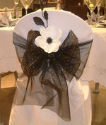 Wedding, Flowers, Reception, White, Ceremony, Blue, Inspiration, Board, Silver, Chair, Bow, Cover, Superior event planning #EasyNip