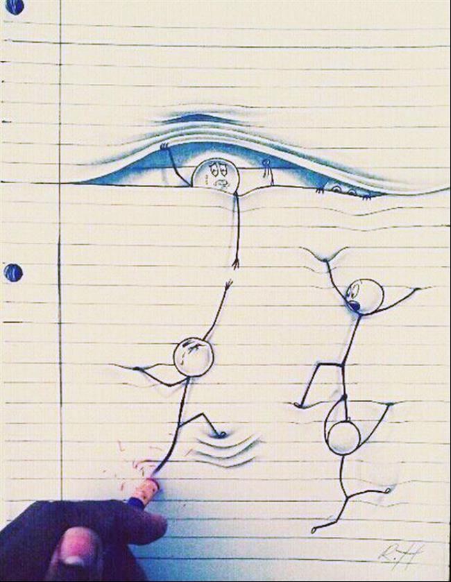 desenhos que utilizam as linhas do papel como principal atrativo  Leia mais: http://www.tudointeressante.com.br/2014/10/7-inovadores-desenhos-que-utilizam-as-linhas-do-papel-como-principal-atrativo.html#ixzz3H4SmriPo