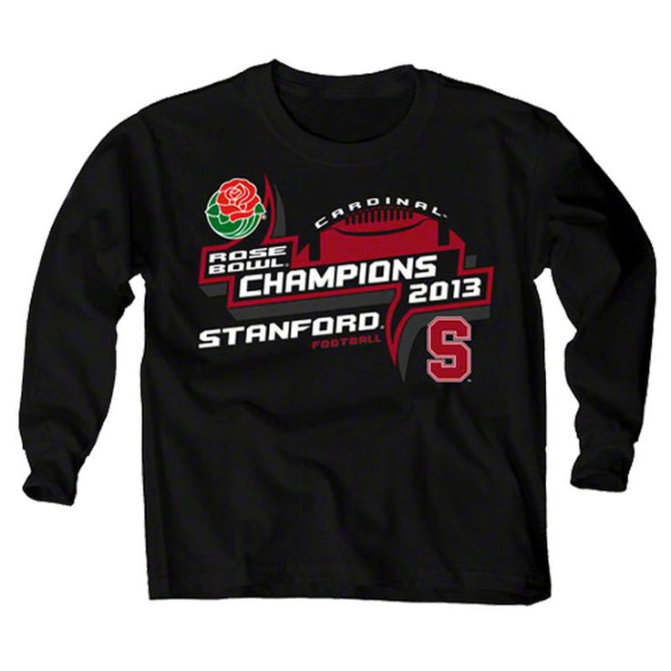 Stanford Cardinal Youth 2013 Rose Bowl Champs T-Shirt - Black