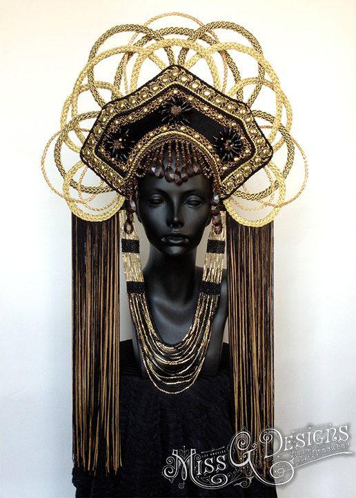 MADE TO ORDER  Gold  Empress Headdress
