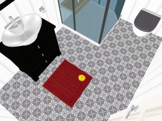 3d floor plans - konstadina nastou decorator-Greece-http://kinteriorsblog.wordpress.com/ #floorplans #roomsketcher #bathroom #black #white #red #home
