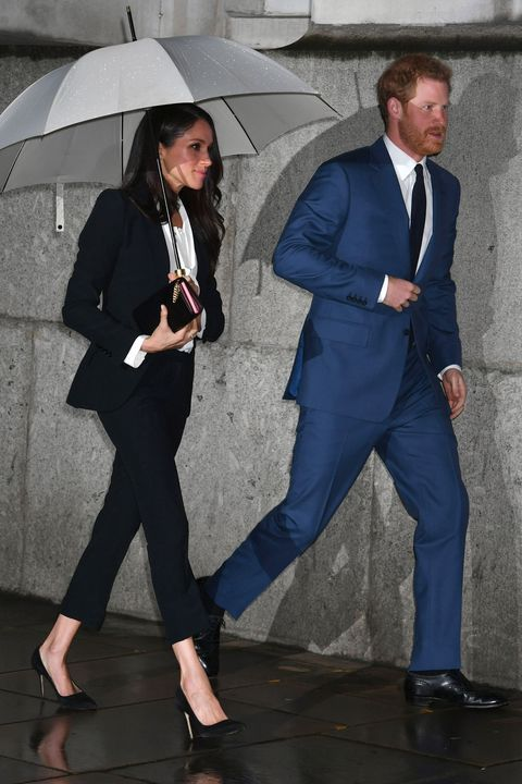 Meghan Markle Wears an Alexander McQueen Suit - Meghan Markle and Prince Harry at Endeavor Awards