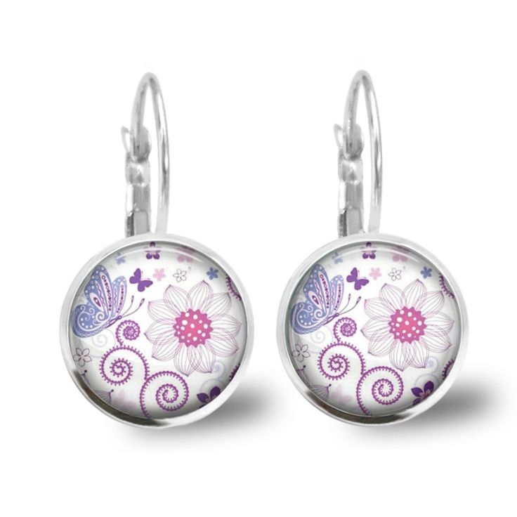 Chatterbox City - Butterfly Field Lever Back Glass Cabochon Earrings, $10.00 (http://www.chatterboxcity.com.au/butterfly-field-lever-back-glass-cabochon-earrings/)