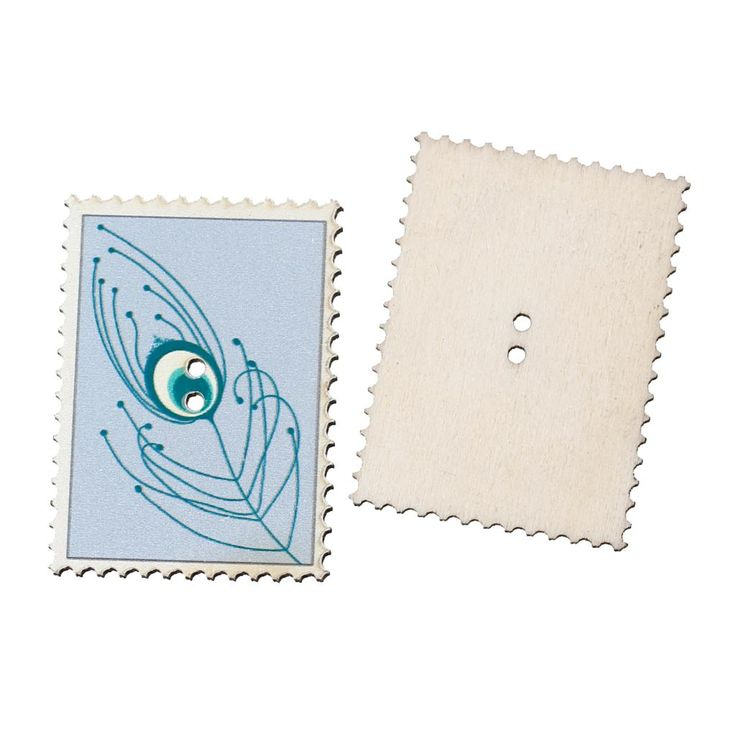 Wood Sewing Button Scrapbooking Postage Stamp Lightblue Two Holes Feather Pattern 4.0cm x 29.0mm,20 PCs 2015 new  //Price: $US $2.73 & FREE Shipping //     #crafting #scrapbooking #decor #decoration #diy #idea #inspiration