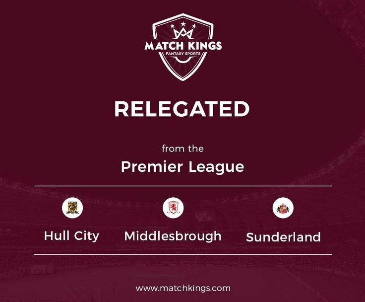 Farewell to the 3 sides relegated from the Premier League this season! We at www.matchkings.com hope to see you back soon! #MatchKhelo u#pl #fpl #fantasysoccer #soccer #fantasyfootball #football #fantasysports #sports #fplindia #fantasyfootballindia #sportsgames #gamers  #stats  #fantasy #MatchKings  #MatchKhelo  #DreamTeam  #Gameweek