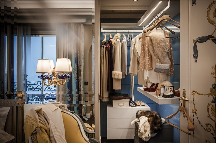 Our Interior Collection offers bespoke hangers, boxes, garment covers, shoetrees and accessories to keep your cabinet at its best  Location: Villa Aminta, Stresa Cashmere blankets: Colombo Cashmere Ph: Paolo Bellon Hangers: Toscanini Italian Light Series in wallnut wood