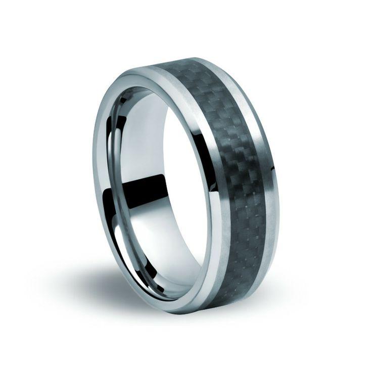 Tungsten Carbide, Carbon Fibre Ring