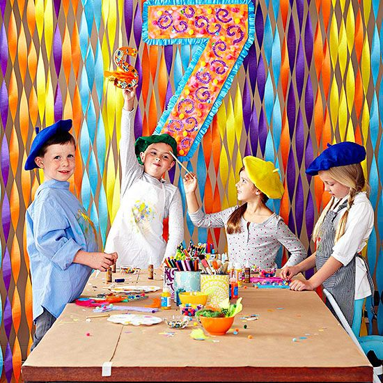 Throw a birthday party fit for an artist! Your little Picasso and his guests will love all the creative, hands-on activities and colorful treats! (via @Phyllis Simons Garcia magazine )