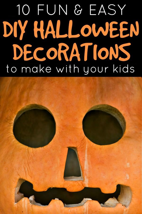 If you're looking for an affordable way to get your kids involved with the Halloween decorations this year, check out this collection of 10 easy DIY Halloween decorations to make with your kids. I can't wait to try #s 3, 6, and 8!