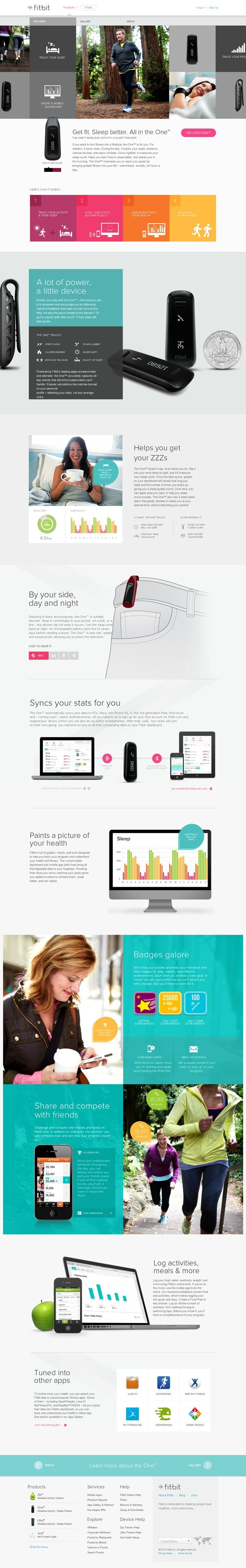 fitbit website #webdesign