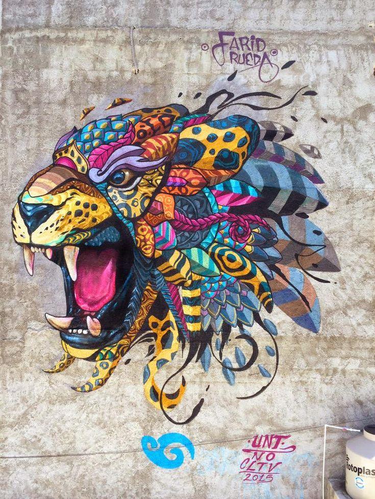 "#StreetArt #FaridRueda - ""Jaguar Balam"""
