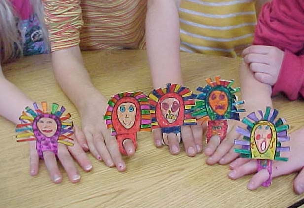 Inuit Finger Masks for kids