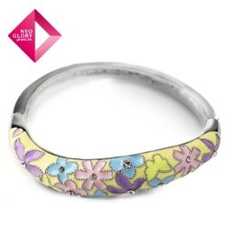 Aliexpress.com : Buy Free Shipping (No Min Order) Neoglory Jewelry Flower Painting Vintage Enamel Bangles for Women with Rhinestone Fashion Jewelry from Reliable Bangles suppliers on NEOGLORY JEWELRY