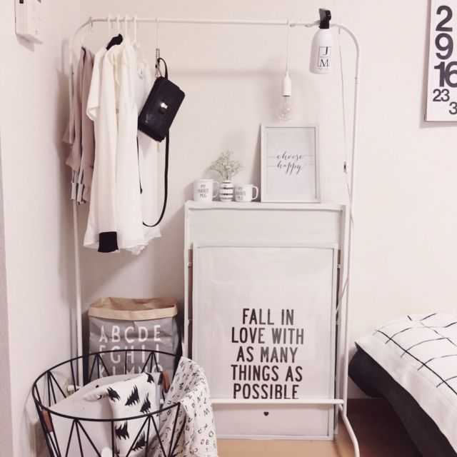 やっぱり白が好き!IKEAの白い家具の魅力に迫る | RoomClip mag ... すっきり見せるハンガーラック
