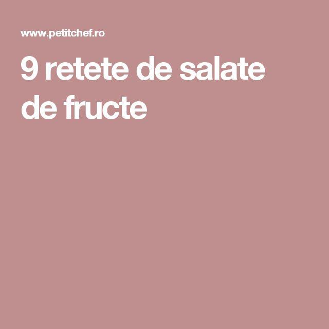 9 retete de salate de fructe