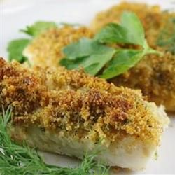 """Cod with Italian Crumb Topping   """"This was delicious and keeping it low fat is the key! I did add a bit more italian seasoning. Came out great! Green beans and cous cous make a super easy week day meal. Thank you!"""""""