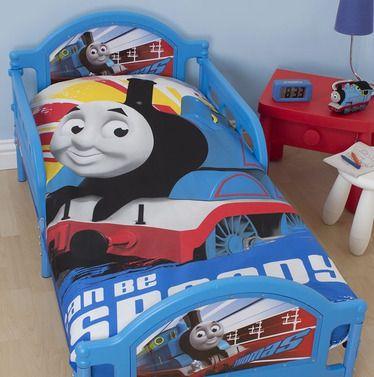 Thomas the Tank, Wheesh Toddler Duvet Set - http://www.childrens-rooms.co.uk/thomas-the-tank-wheesh-toddler-duvet-set.html #thomasthetankengine #juniorbedset #toddlerbedding #thomasandfriends