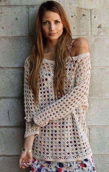 Patrón #798: Blusa a Crochet