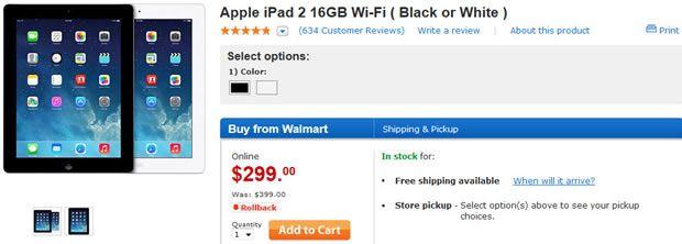 awesome Walmart sale slashes iPad 2 price to $299