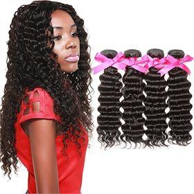 Natural Color Brazilian Virgin Hair Deep Wave 4 pc/lot BVMD0031