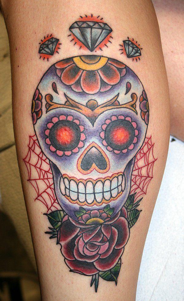 Sugar Skull Art   sugar skull by ~MrTat2 on deviantART