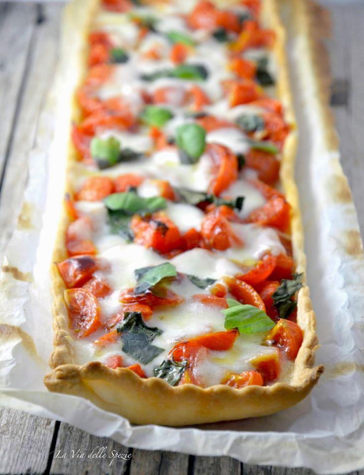 la via delle spezie - Brisee all'olio con pomodori e mozzarella