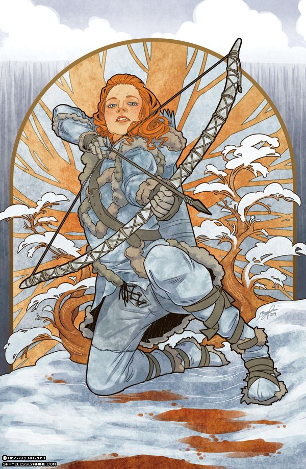 Ygritte - Game of Thrones Art Nouveau - A Song of Ice and Fire Illustrations #gameofthrone #GOT