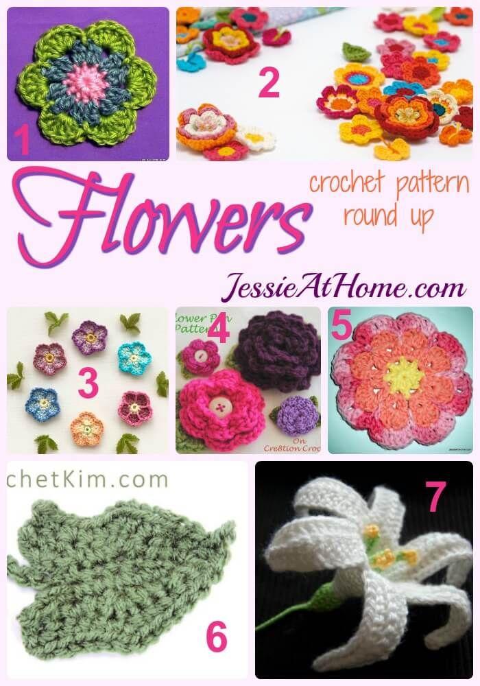 gratis gehaakte bloem patronen