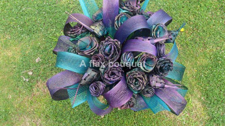 Flax flower bouquet.