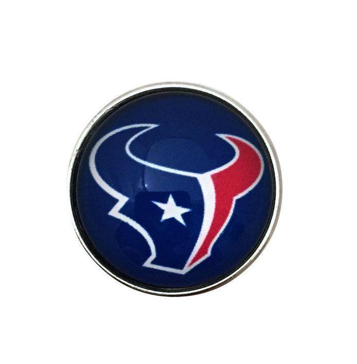 S-3283 Houston Texan Snap 20mm for Ginger Snap-Noosa Snap-Chunk Snap Charm…