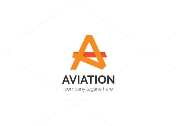 aviation letter a logo