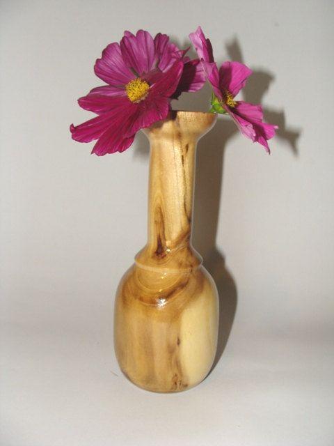 Wooden Vase / Wooden Acacia Vase / Wooden Weed Pot by NOviWood, $15.00