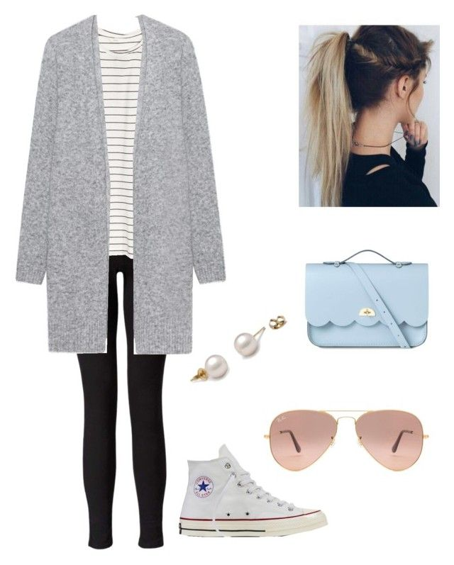 """""""school outfit"""" by daisydoo1604 on Polyvore featuring Miss Selfridge, H&M, Acne Studios, Converse, The Cambridge Satchel Company, Capelli New York and Ray-Ban"""