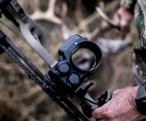 Auto-Ranging Digital Bow Sight - Never miss your mark with this auto-ranging digital bow sight. It provides a highly accurate laser range finder that calculates the LED pin to use for the shot along with bow sights that instantly provide the precise angle-compensated distance for game up to 100 yards away.