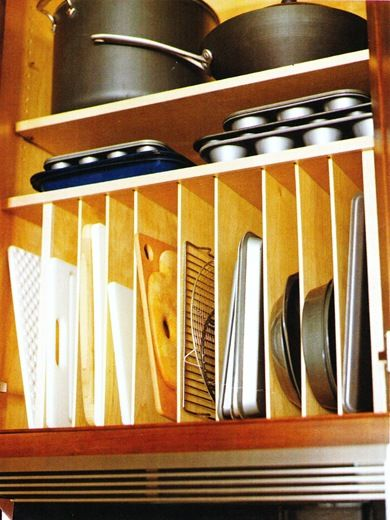 vertical cabinet dividers - for cutting boards, sheet pans, serving platters, etc