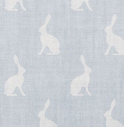 Mini Hares in the Sky Linen by Peony & Sage
