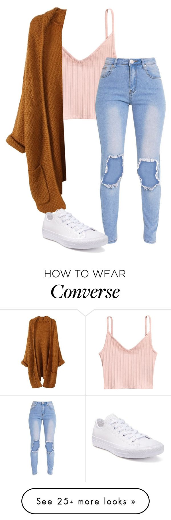 """Untitled"" by folieapanic on Polyvore featuring Converse"