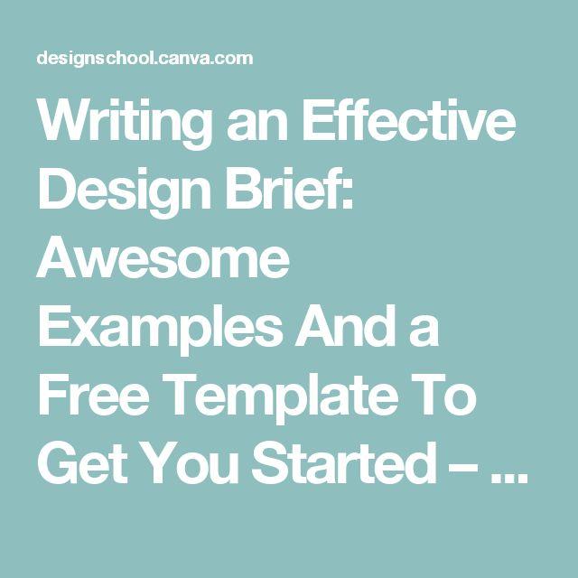 Best Briefings Images On   Briefs Creative Brief