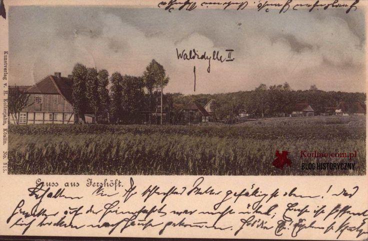 Pocztówka Gruss aus Jershöft wysłana z Zagrzeb w 1918 roku. Wydawnictwo: Kunstverlag v. Kolterjahn Koslin. nr. 315