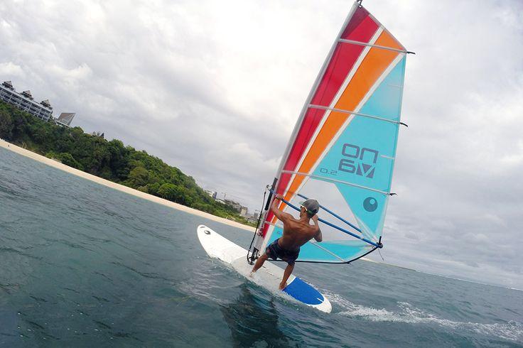 Windsurfing at Samabe