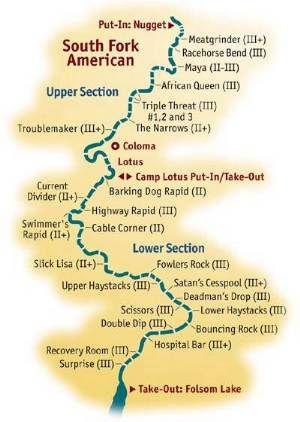 White Water Rafting California Map.Whitewater River Map Maps American River Rafting Whitewater