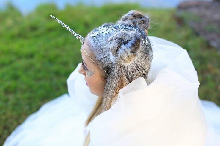 haare weiß färben fasching einhorn verkleidung #hair #party #ideas
