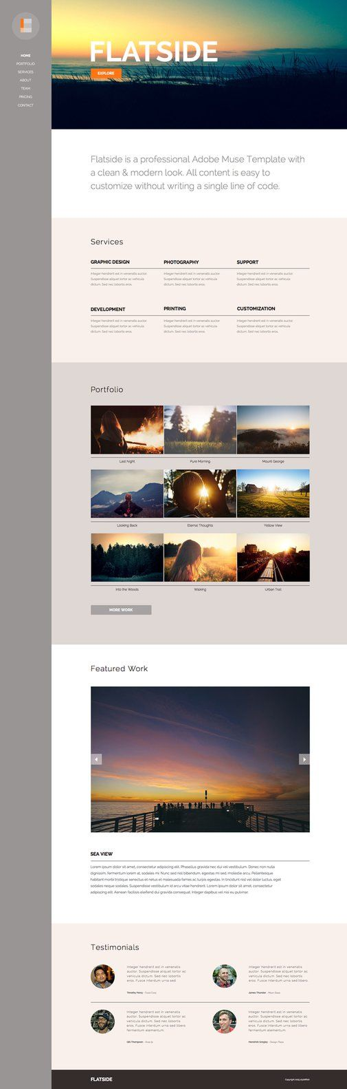 The 34 best Adobe Muse Templates images on Pinterest | Adobe muse ...
