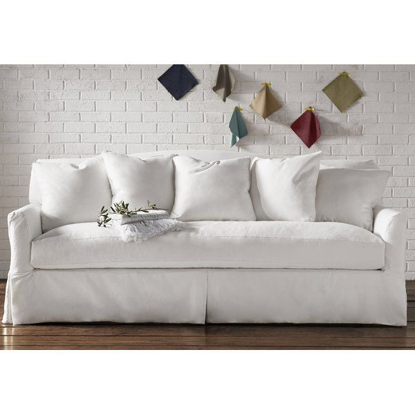 The Perfect Anchor For Your Living Room Every Inch Of This Clean Lined And Classic Sofa Works Perfectly For Tradition Slipcovered Sofa Classic Sofa Slipcovers