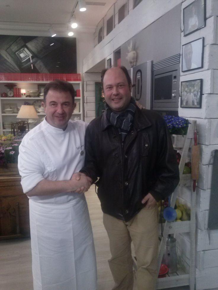 Martín Berasategui con Iñaki Galindez, nuestro comercial de la zona Norte