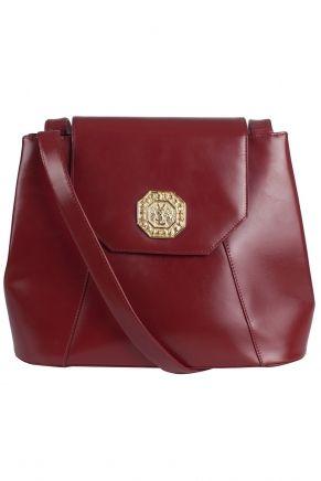 Кожаная сумка (80-е) Yves Saint Laurent Vintage - Винтажная сумка Yves Saint Laurent на длинном ремешке станет идеальным дополнением как повседневного образа в интернет-магазине модной дизайнерской и брендовой одежды
