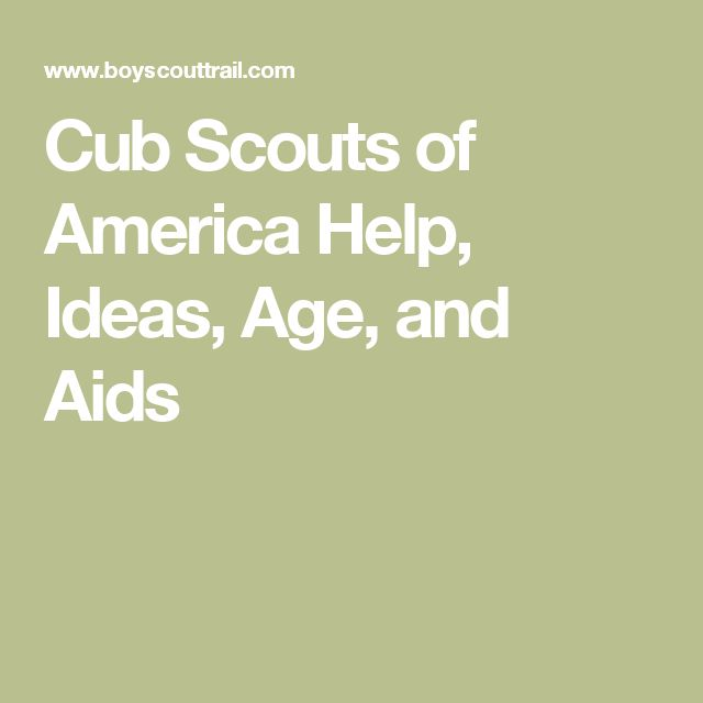 Cub Scouts of America Help, Ideas, Age, and Aids