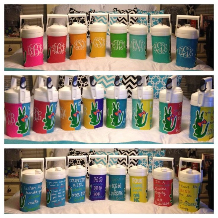 mini coolers...I want to go on spring break just so me and the girls can make these! -- these are adorable!! @Hayley Glantz